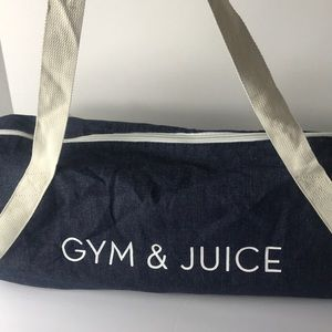 Private Party - Gym and Juice - Denim Gym Bag